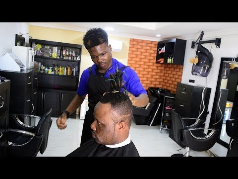 Getting a Celebrity Hair Cut at Akuabaz in Ghana W/Africa
