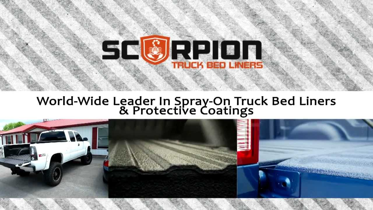 Auto Body Shops >> Spray On Truck Bed Liner Manufacturer - Scorpion Truck Bed Liners - YouTube