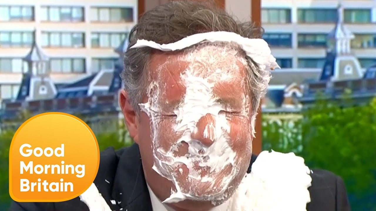 Piers Gets Pied in the Face by Harry Hill for 'Papoose-Gate' | Good Morning Britain - YouTube
