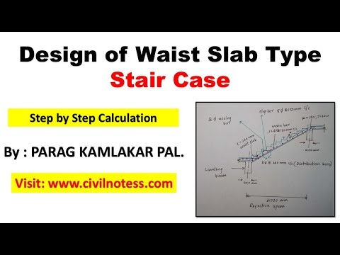 Learn How To Design A Waist Slab Type Staircase - Engineering Feed