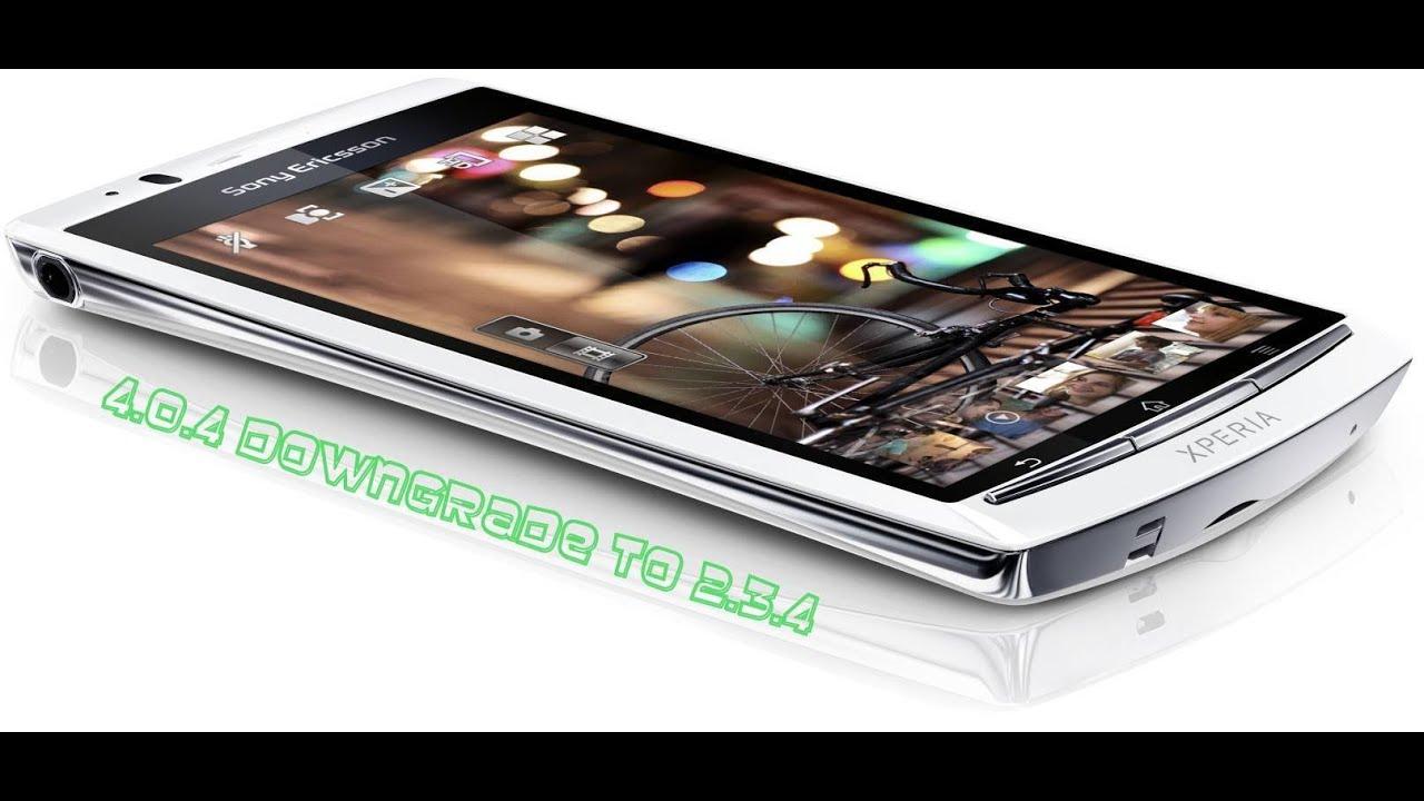 Sony Xperia Arc s (LT18i) Downgrade German - YouTube