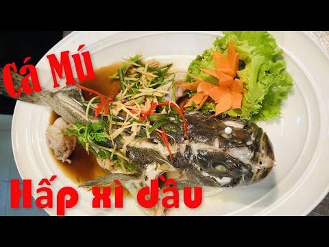 cách nấu cá mú hấp xì dầu