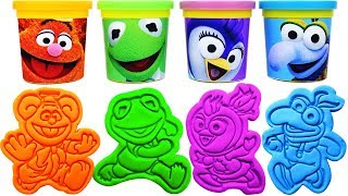 Play-Doh Muppet Babies Molds & Surprise Eggs, Learn Colors, Nursery rhymes