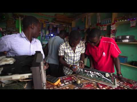 Electronics store: a community project of Simon Owor, WPDI Youth Peacemaker Uganda