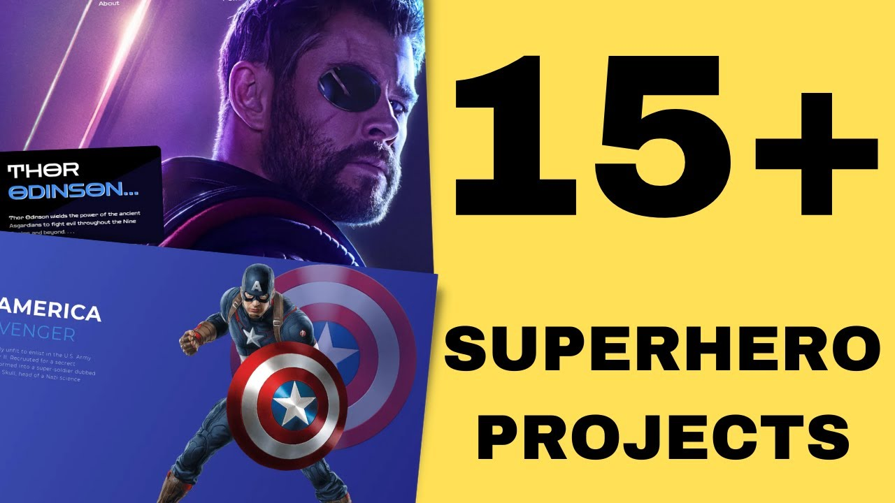 15 Superhero projects in HTML5/CSS3/JavaScript! Weekly challenge review