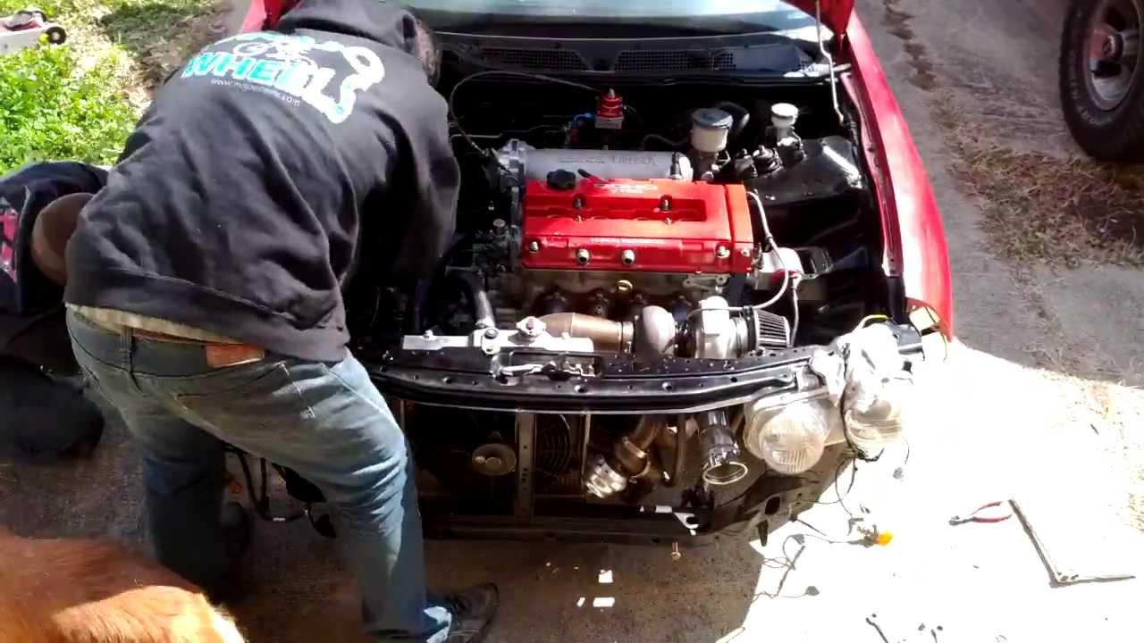 Time Lapse Acura Integra Motor Pull