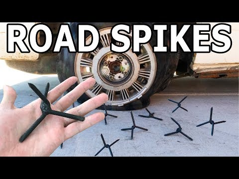 Hitting Road Spikes at 50 MPH - Fun with a 60,000 PSI Waterjet