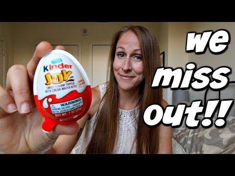 Kinder Surprise Egg Vs Kinder Joy