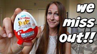 American reacts to Kinder Surprise Egg vs Kinder Joy