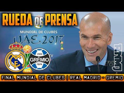 Rueda de prensa Zidane  : Real Madrid 1-0 Gremio