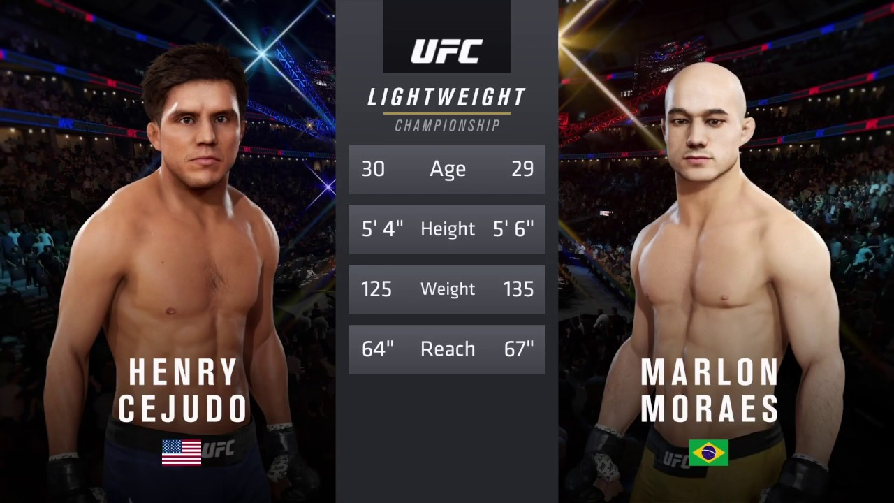 Henry Cejudo Vs Marlon Moraes Ea Sports Ufc 3 Cpu Vs Cpu Crazy Ufc Youtube