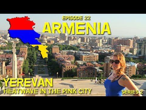 HEATWAVE // PINK CITY // YEREVAN // FOUNTAIN LIGHT SHOW // Hitchhiking in Armenia // EP 22