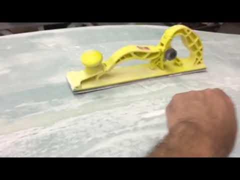Filling and Sanding for laminar flow