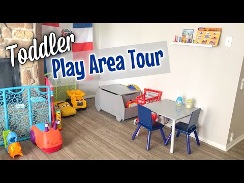 Toddler Playroom Tour (in Living Room) | Budget Friendly