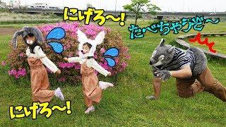 おおかみに食べられちゃう><にげろ~!!うさぎのおひっこし♡追いかけっこ遊びhimawari-CH