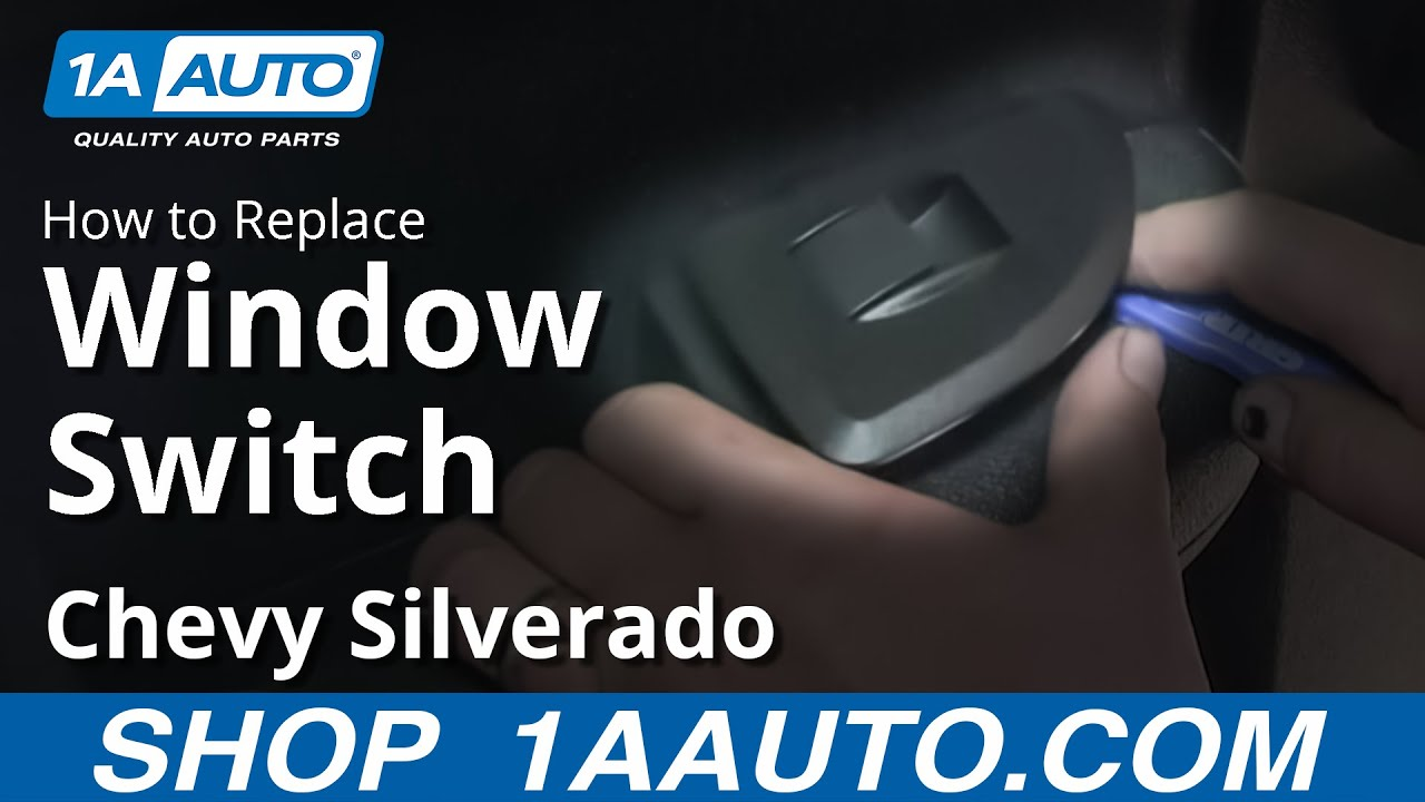 How To Replace Rear Window Switch 07 13 Chevy Silverado Youtube