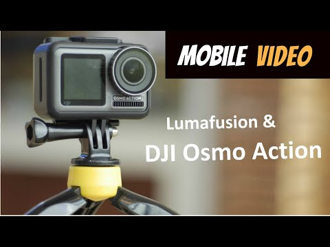 DJI Oslo Action iPhone and Lumafusion for Mobile Video