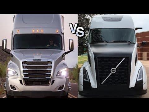 Войны грузовиков: Фредлайнер Каскадия Vs Вольво Супер Трак