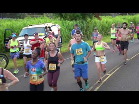 4K-The Kauai Marathon 2016 Start Plus on the Track footage!