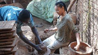 Making Traditional Pottery in Sudan ✨ صناعة الفخار التقليدي في السودان