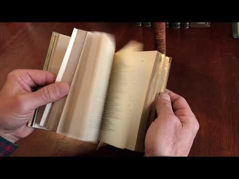 Golden Treasury 1913 by Palgrave in Morrell beautiful morocco leather book bindings 2 vol. set A+