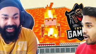 PLAYING MINECRAFT HARDCORE WITH TECHNO GAMERZ AND TOTAL GAMING