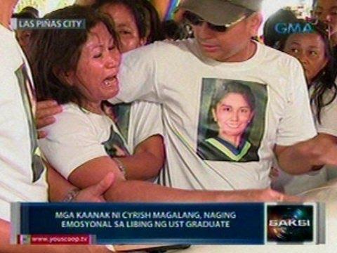 Saksi: Mga kaanak ni Cyrish Magalang, naging emosyonal sa libing ng pinatay na UST graduate