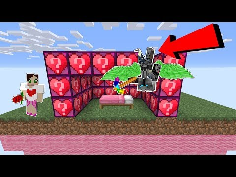 Minecraft: *CRAZY* HEART LUCKY BLOCK BEDWARS! - Modded Mini-Game
