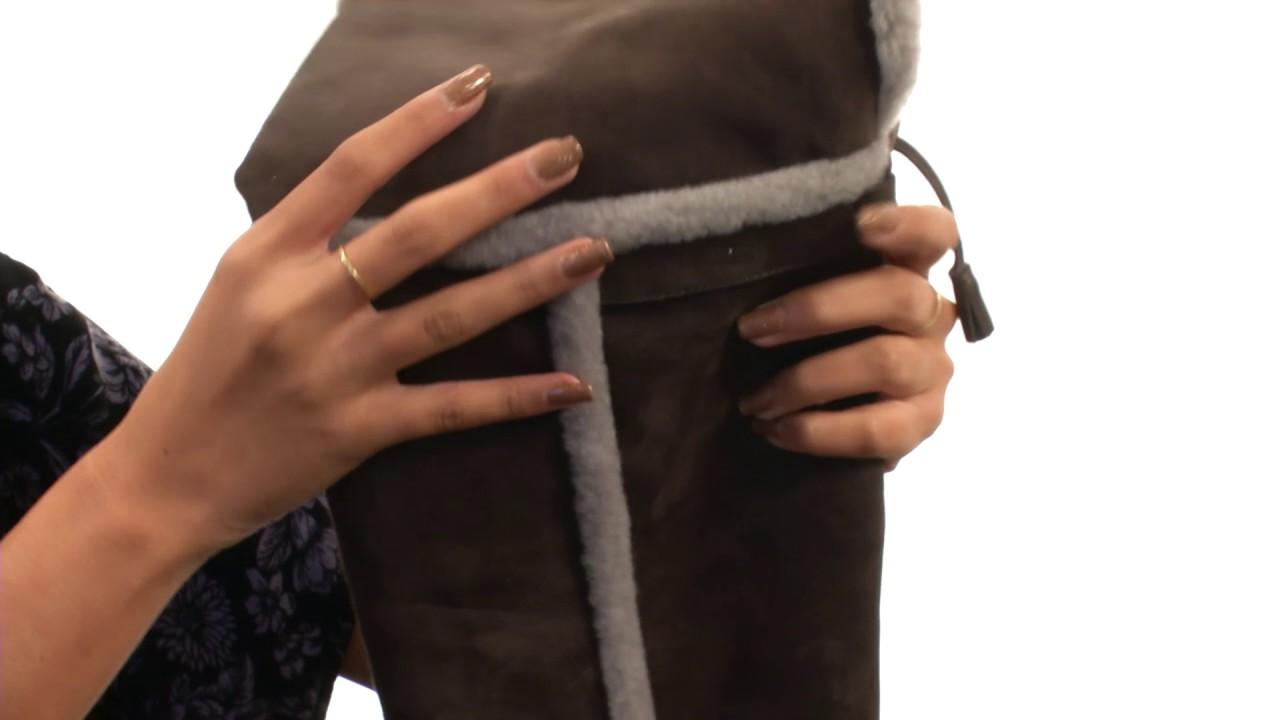 2403ab959c6 Frye Tamara Shearling Over The Knee SKU 8743599 - YouTube