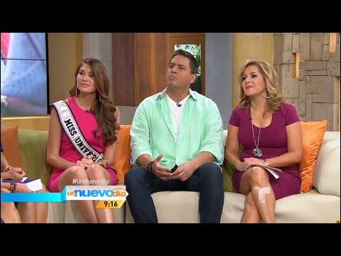Miss Universe 2013, Gabriela Isler dando detalles del Miss Universe 2014 en Un Nuevo Día