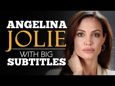 LEARN ENGLISH | ANGELINA JOLIE: What We Stand For? (English Subtitles)