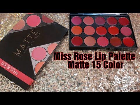 Miss Rose Lip Palette||Matte 15 Lipstick Color||Affordable Lip Palette ||