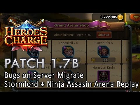 Heroes Charge : Patch 1.7b - Bugs on Server Migrate