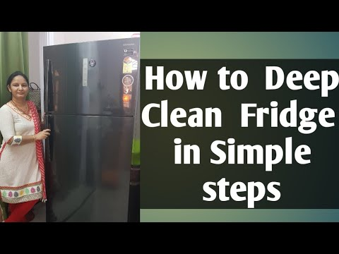 How to Clean a Big Fridge|How to Clean Fridge with Vinegar|Samsung Fridge deep cleaning step by step