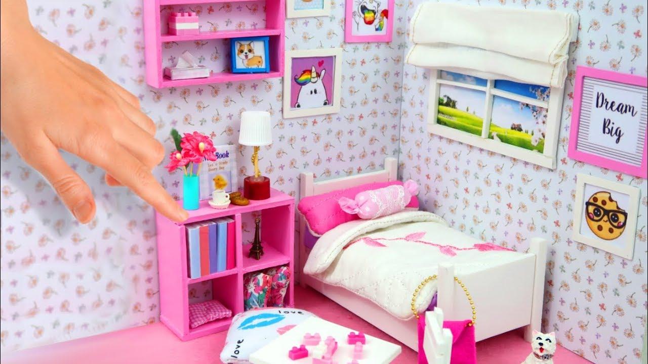 Diy habitaci n en miniatura para casas de mu ecas youtube - Casas miniaturas para construir ...
