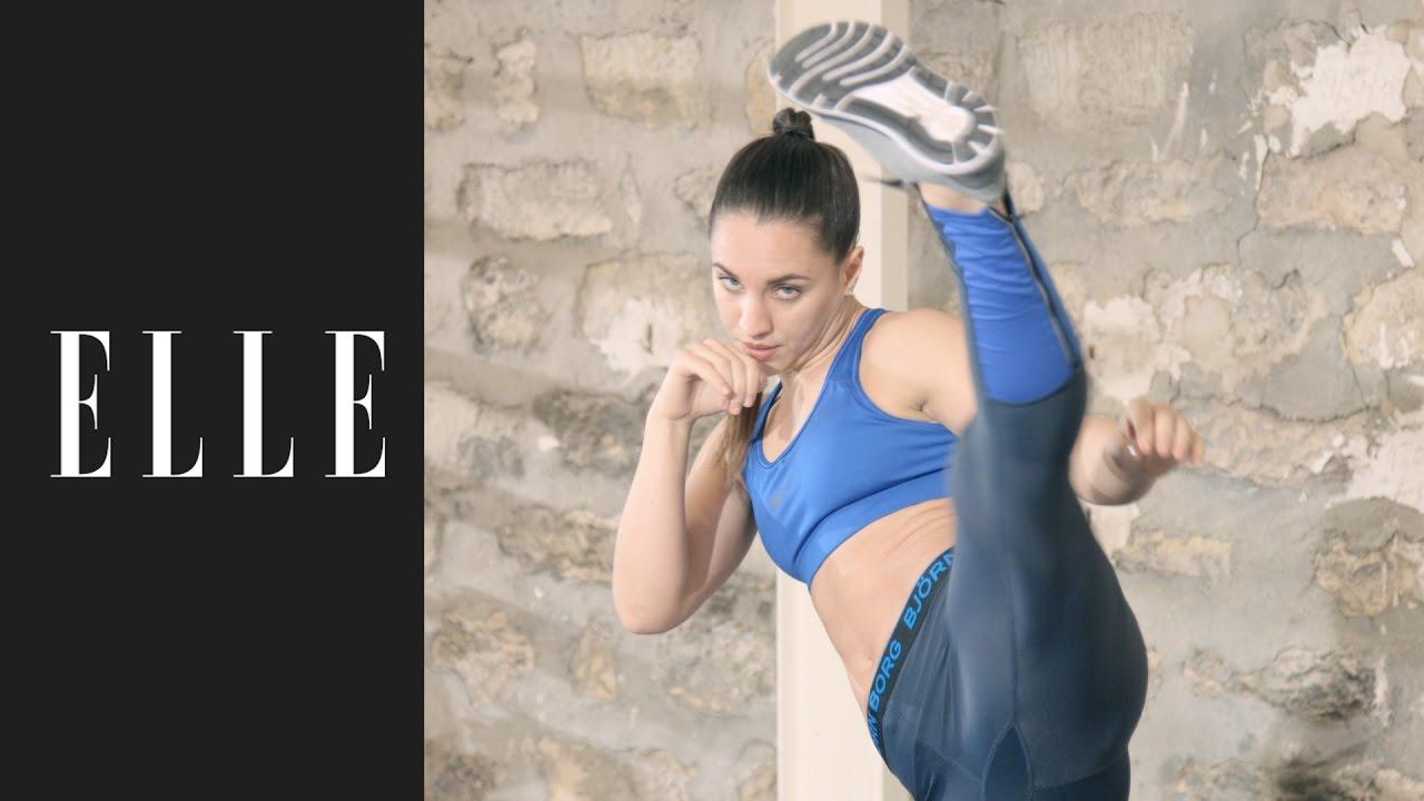 10 minutes de kick-boxing par jour┃ELLE Fitness