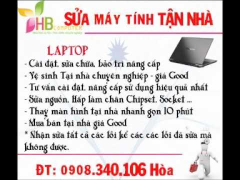Sửa Laptop tại nhà Nguyễn Hữu Tiến, Phạm Đức Hiền Tân Phú 0908.340.106