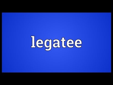 Header of legatee