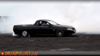 Warrnambool Drags Burnout Competition - Holden VU Ute