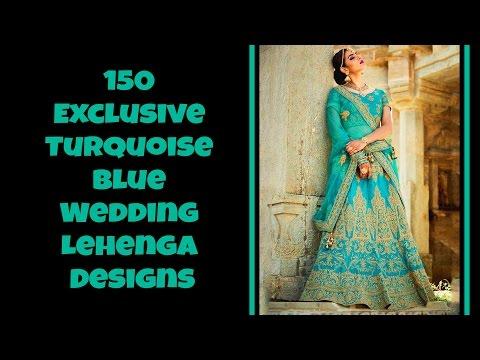 150 Exclusive Turquoise Blue Wedding Lehenga Designs