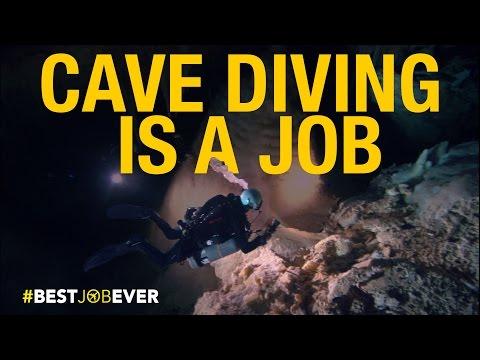 Underwater Cave Diving   Best Job Ever
