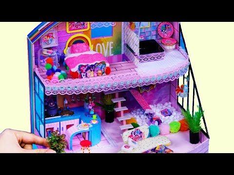 DIY Miniature Dollhouse ~ Unicorn Bathroom, Bedroom ~ Full House