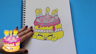 """How to Draw Shopkins Season 1 """"Wishes"""" Step By Step Easy   Toy Caboodle"""