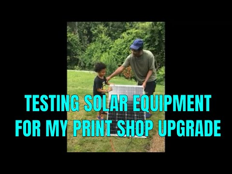 Testing SOLAR POWER equipment with my CE0