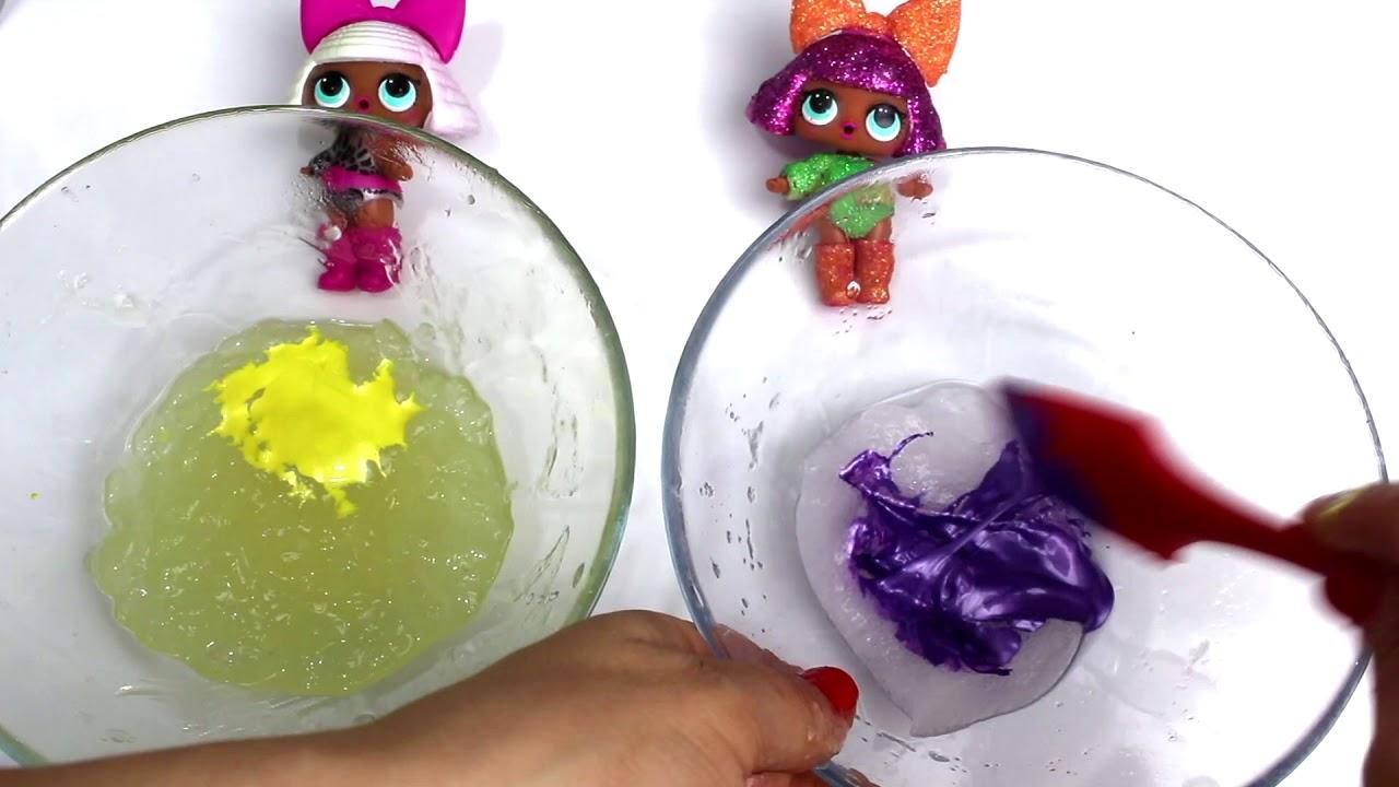 Lol Bebekler Ile Tutkalsız Borakssız Slime Challenge Kolay Slime
