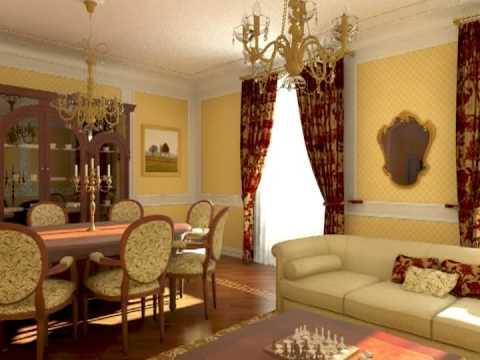 3d studio max classical interior design animation