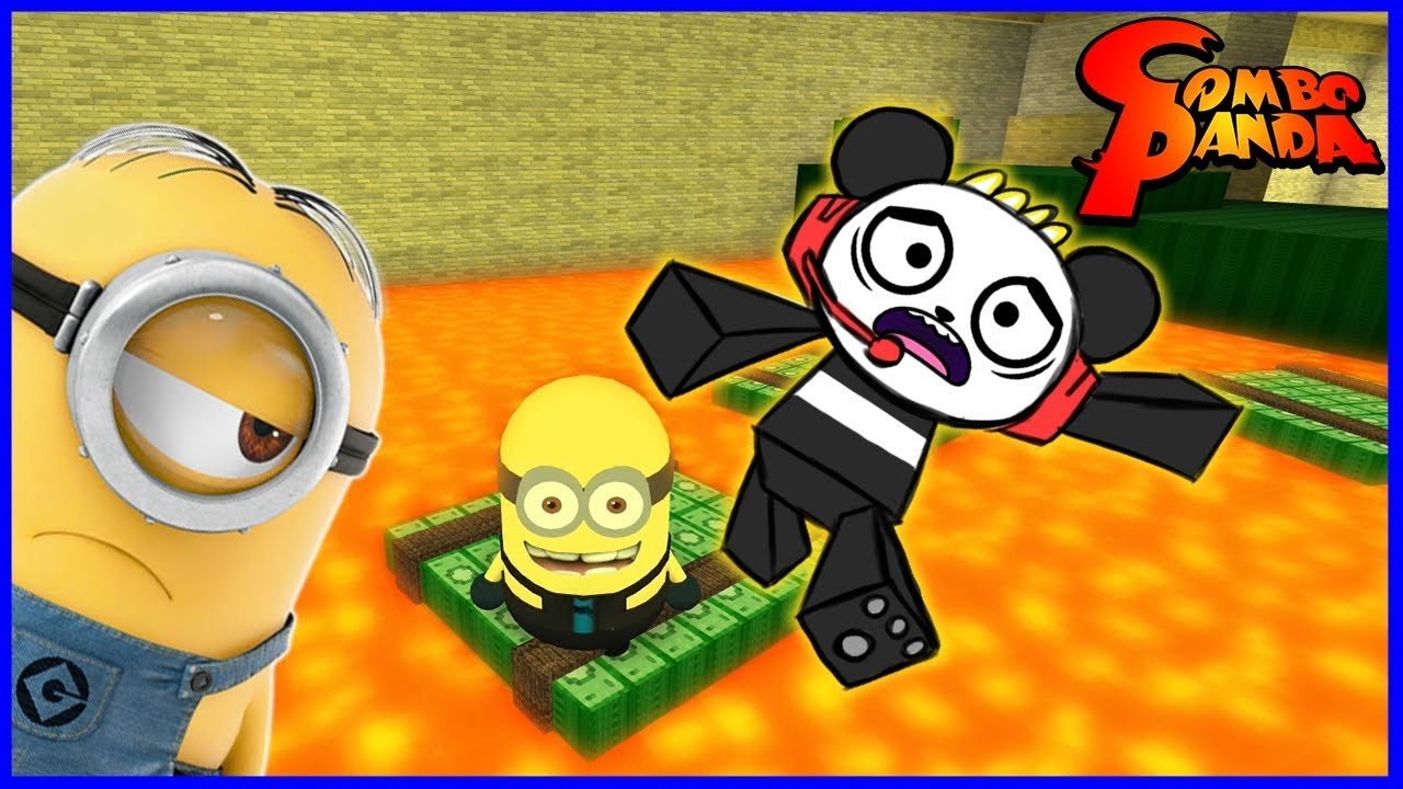Despicable Me 3 Minion Game! Oh No Floor is Lava! Let's Play Roblox with Combo Panda