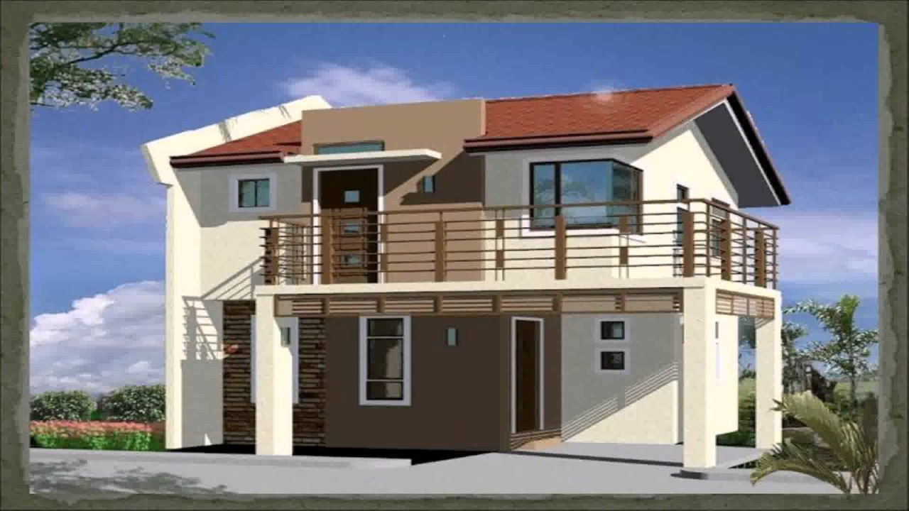 House design ideas for 100 square meter lot youtube for House design for small houses philippines