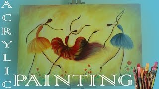 acrylic painting | dancing girls | very easy