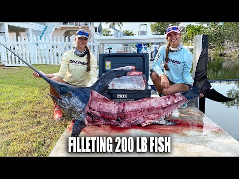 FILLETING 200LBS OF SWORDFISH MEAT ⚔️ Gale Force Twins